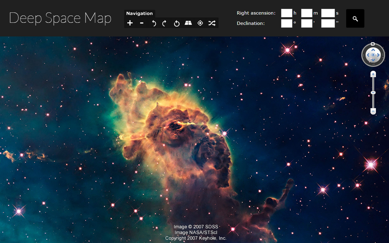 Deep space map - view the night sky
